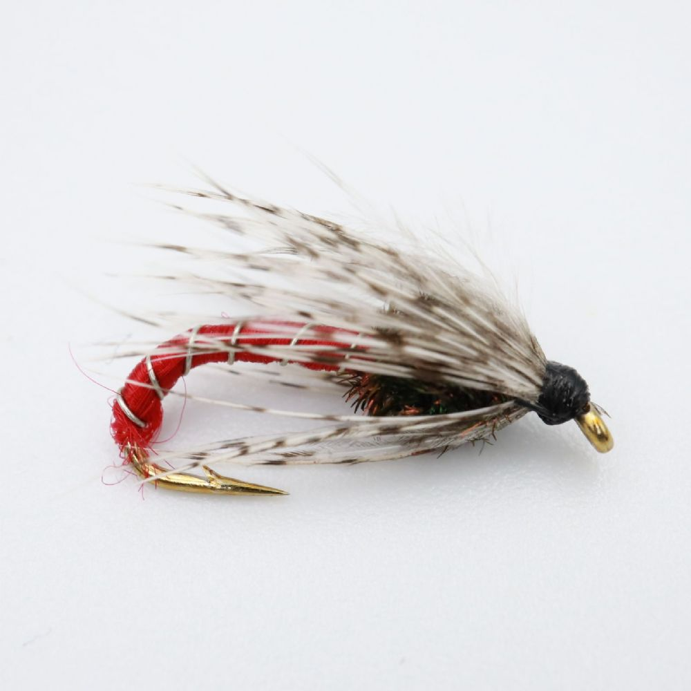 Red Metallic Soft Hackles Spider Fishing Fly